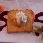 brioche perdue et sa glace caramel beurre salé