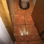 Toilet flooded