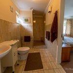 Walk in wet shower en-suite for twin room