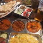 Meat Thali and Vegetarian Thali