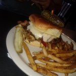 texas burger with home fries