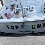 The crew (Miguel) for our Top gun charter