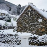 Briar Cottages entrance in snow, Lochearnhead