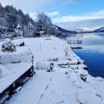 Loch garden in snow