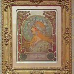 Zodiac poster by Alphonse Mucha in the L'Affichomania: The Passion for French Posters exhibition
