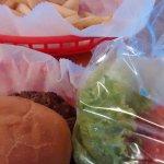 """Lettuce & tomato, """"in the bag""""..."""