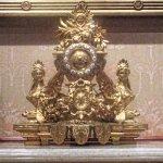 Ornate clock at the Driehaus Museum.