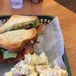 The excellent Turkey sandwich