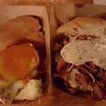 Mystery (veal) meat slider and corned beef slider