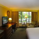 Hilton MSY Airport - Room 216 - King bed, chest, TV and desk