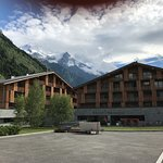 Hotel with a great view of Mont Blanc summit