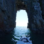 approaching rock archway