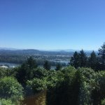 Looking over the Willamette River and east Portland.