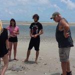 Capt. Gresh teaching us about stingrays.