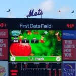 First Data Field center field sign.