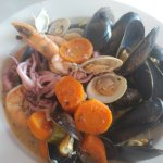 Shellfish stew Amsterdam style and the smoreshbord