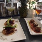 fish tacos and specialty meatballs