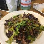 mixd greens with jalapeño vinaigrette