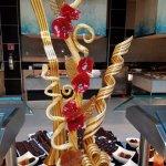 Desert sculpture at buffet