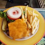 Humpy's Cheeseburger & french fries