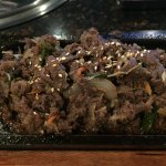 5. Marinated thinly sliced beef