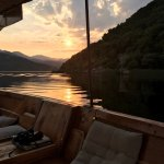 Sunset at lake Skadar