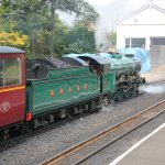 Southern Maid leaving Romney