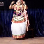 This artist gave a demonstration of some Kathakali expressions and movements.