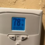 Temp in my room after 3 hours of running the air conditioner.  Strangely enough it was 78 when w