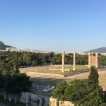 View of Temple of Zeus from our room