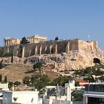 Breakfast view of the Acropolis from the restaurant