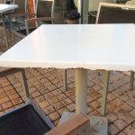 tafels aan de bar versleten