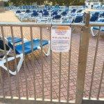 de ligplaats aan het zwembad gaat maar open om 10 uur!