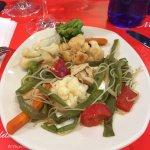 ¿wok de fideos con verduras?