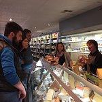 Visiting a gourmet shop