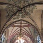 Original remains of the original ceiling paintwork