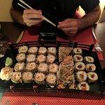 Combination sushi platter