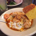 Shrimp and grits entree.