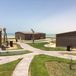 Beach rental rooms and beach view with the changing tides