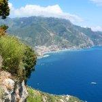 View of the Amalfi coast from Villa Cimbrone