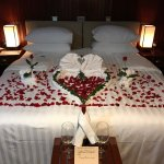 lovely anniversary surprise in our cabin