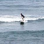 Surfing on my own! Yea!