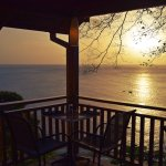 Sunset from the Caribbean Kitchen at Castara Retreats