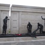 The Armed Forces Memorial showing the gap in the wall