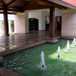 Fountains on the way to the reception