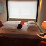 Room 442 on fourth floor with complimentary wedding anniversary treat and message.