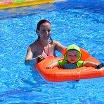 My grandson in Ektors pool.He loved it.