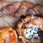 buttery pastries--canella, raspberry danish, brioche