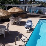 Our popular pool and hot tub area has a gas grill and sun deck.