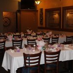 Private dining room for baby shower